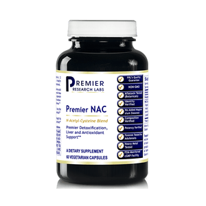 Premier NAC, 60 Capsules, Vegan Product - N-Acetyl-L-Cysteine Blend for Premier Detoxification, Liver and Antioxidant Support BY  premier research labs