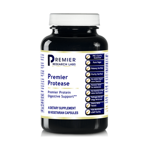 Premier Protease, 60 Capsules - Proteolytic Enzyme Concentrate for Premier Protein Digestive Support by Premier Research Labs