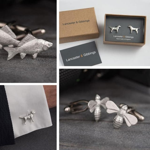 Pewter Cuff Link Collection