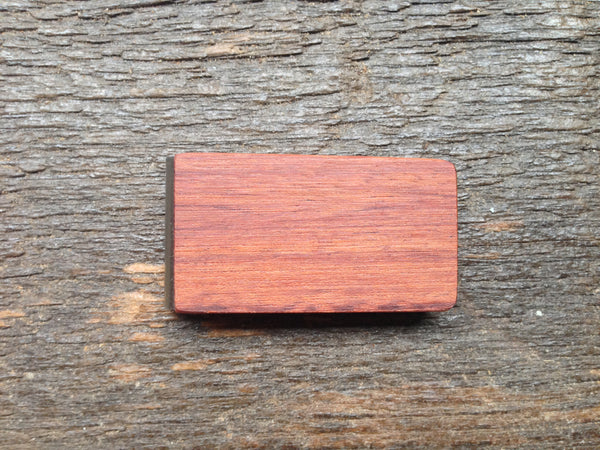 Purple Heart Wood Money Clip