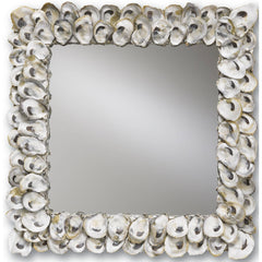 Currey and Co - Oyster Shell Mirror, Square