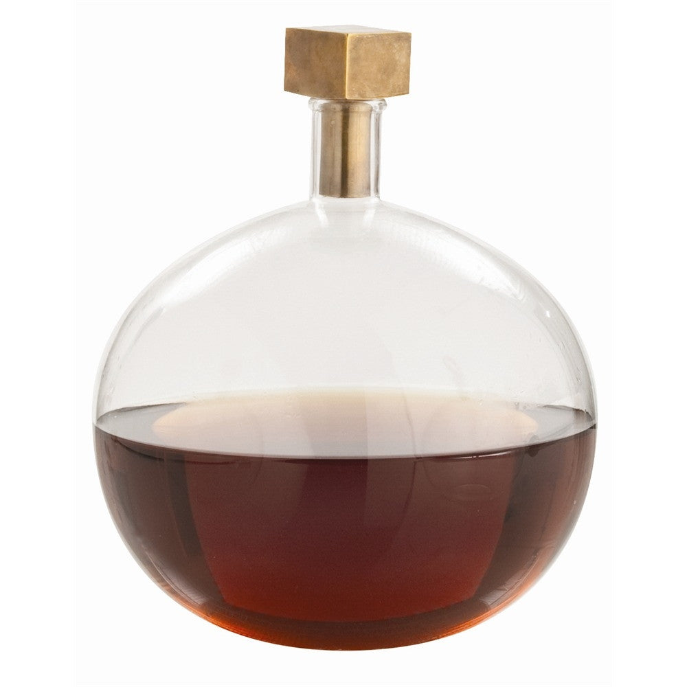 Arteriors - Edgar Cube Stopper Decanter