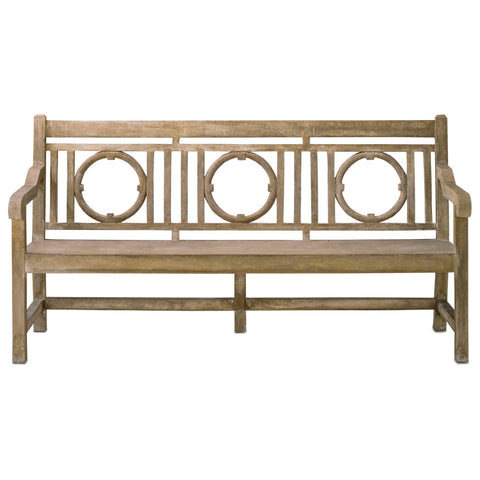 Currey and Co - Leagrave Bench, Large