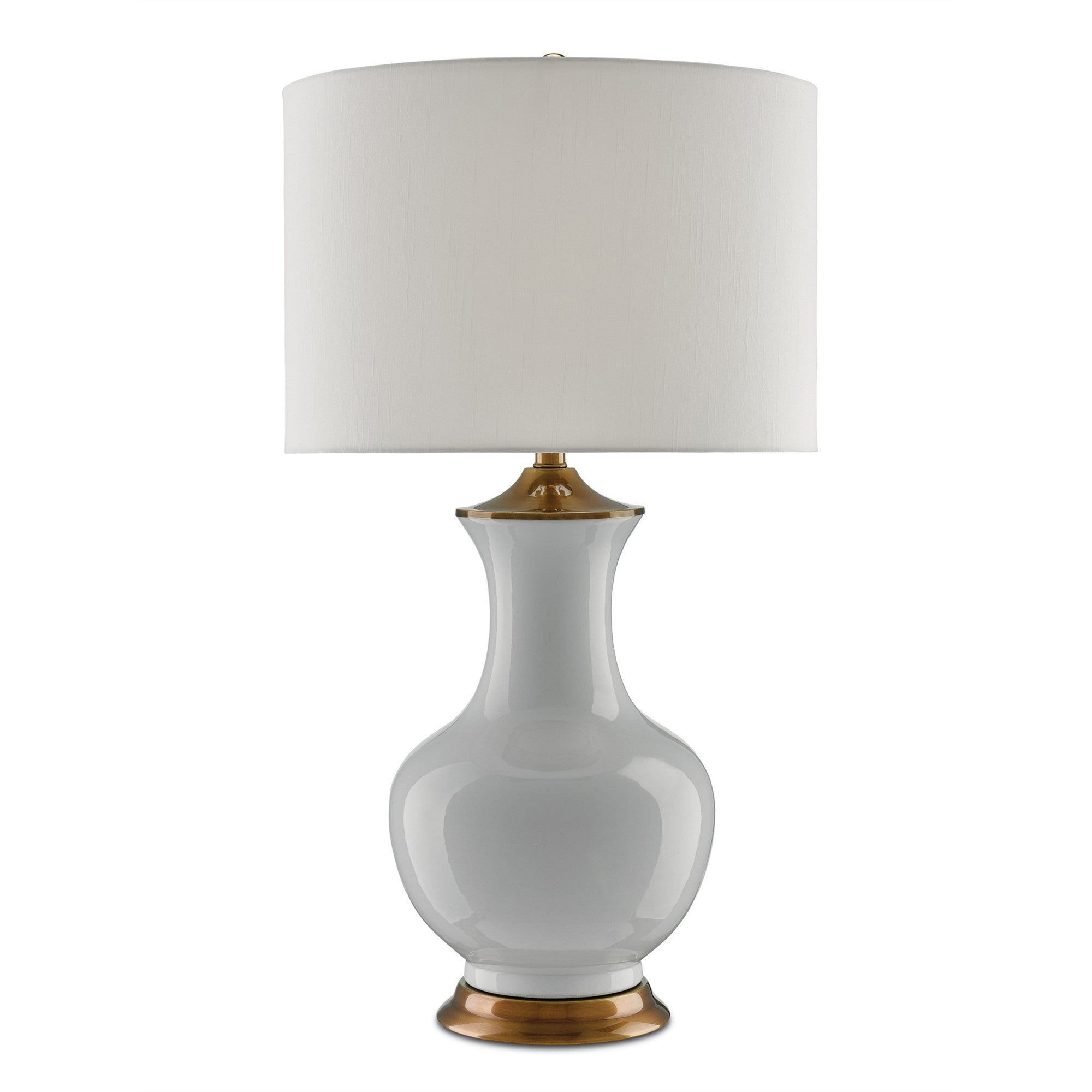 Currey and Co - Lilou Table Lamp, White