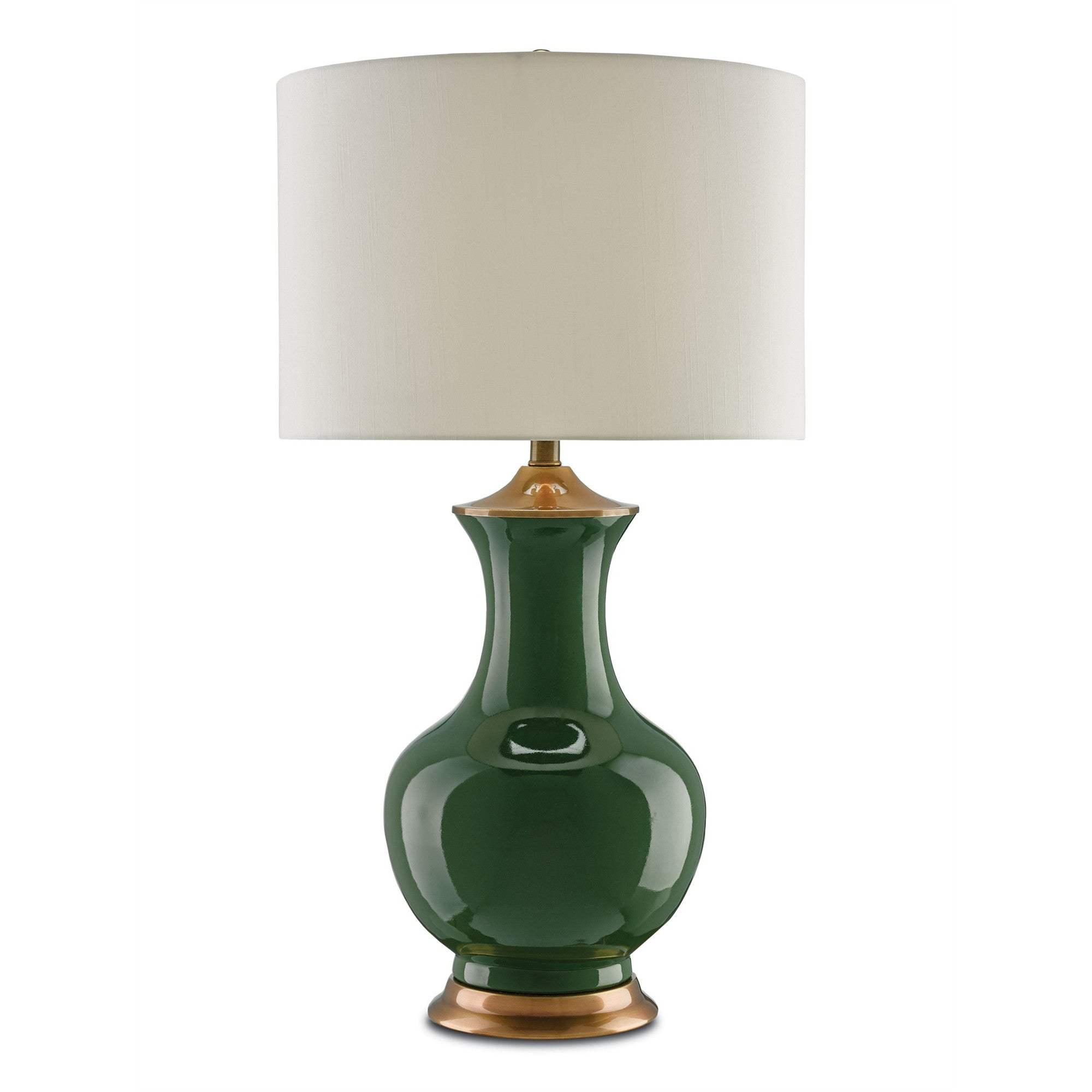 Currey and Co - Lilou Table Lamp, Green