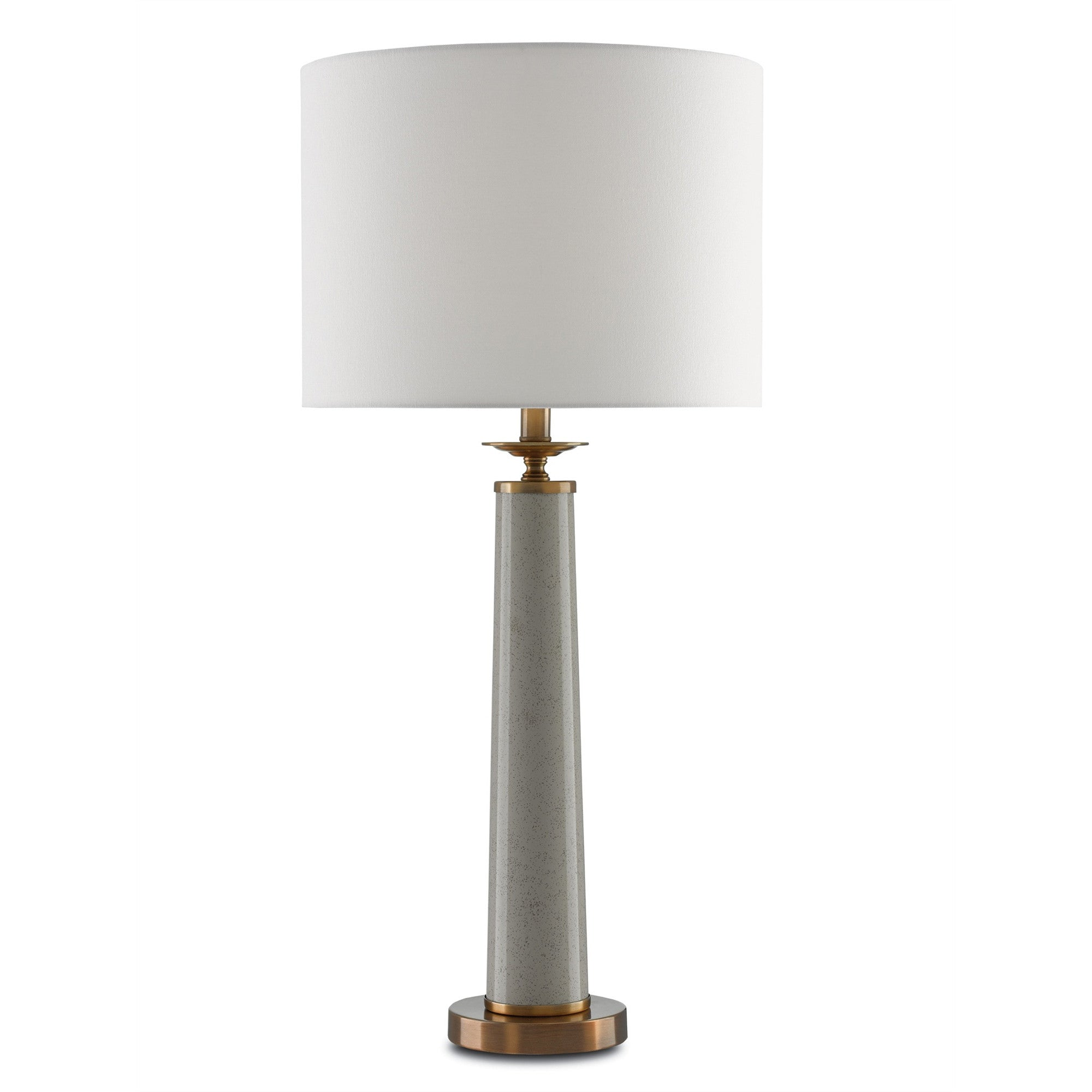 Currey and Co - Rhyme Table Lamp, Gray
