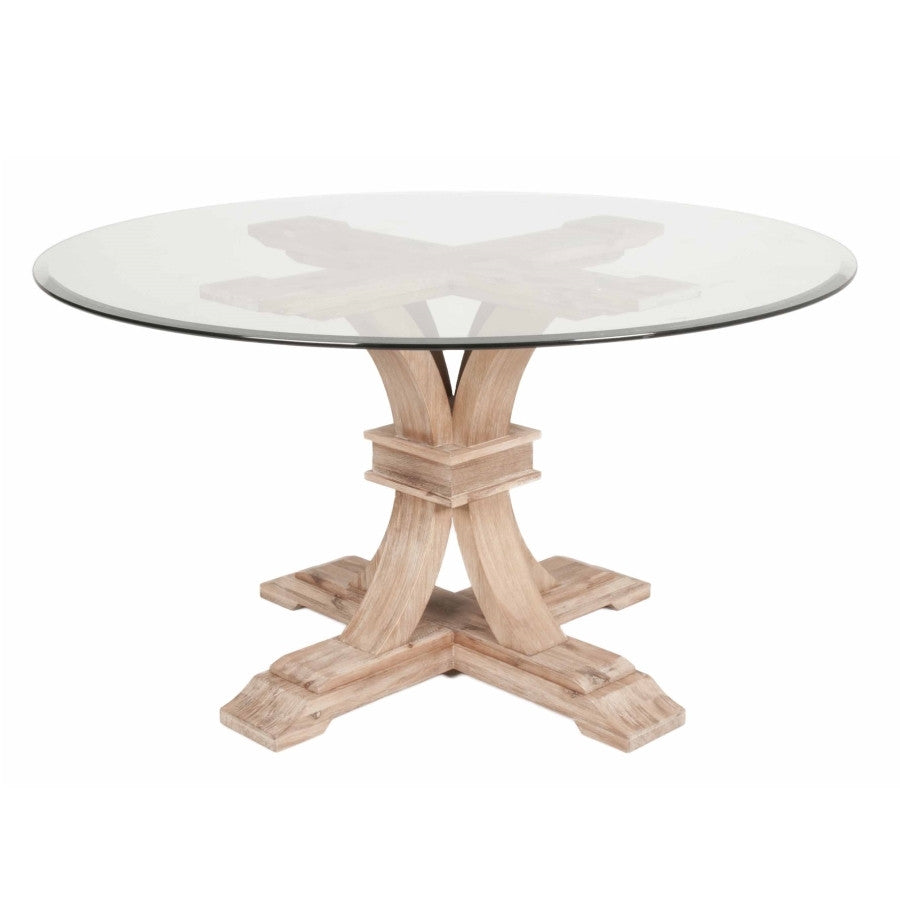 "Orient Express - Devon 54"" Round Glass Dining Table"