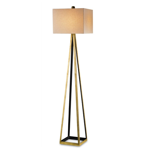 Currey and Co - Bel Mondo Floor Lamp, Gold