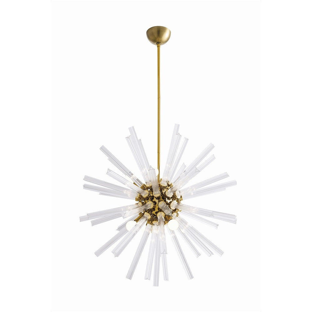 Arteriors - Hanley Chandelier, Antique Brass