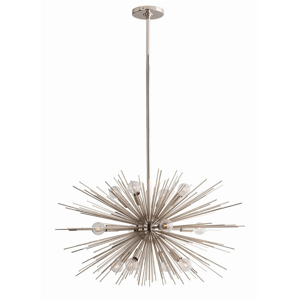 Arteriors - Zanadoo Small Chandelier, Nickel