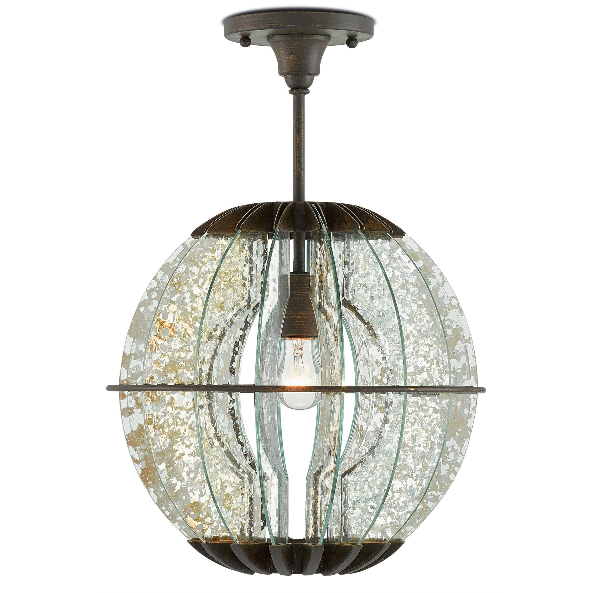 Currey and Co - Zanzibar Pendant/Semi-Flush