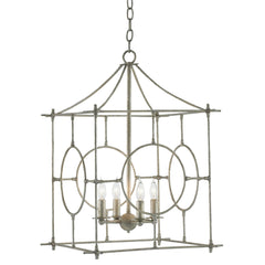 Currey and Co - Lynworth Lantern, Silver