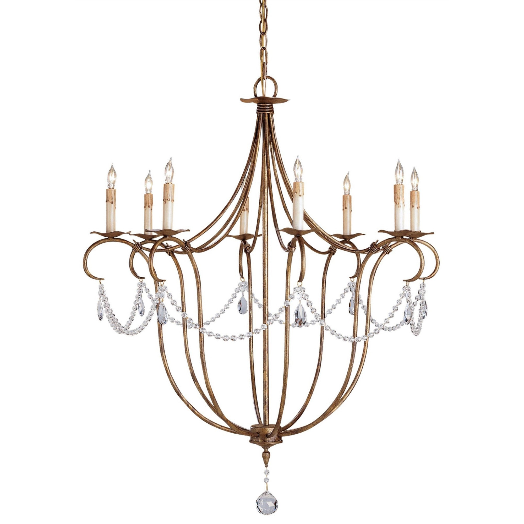 Currey and Co - Crystal Light Chandelier, Large