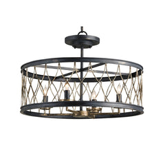 Currey and Co - Crisscross Pendant/Semi-Flush