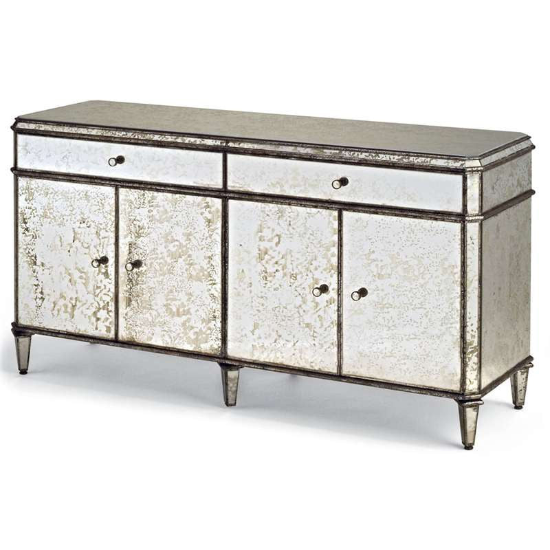 Currey and Co - Antiqued  Mirror Credenza