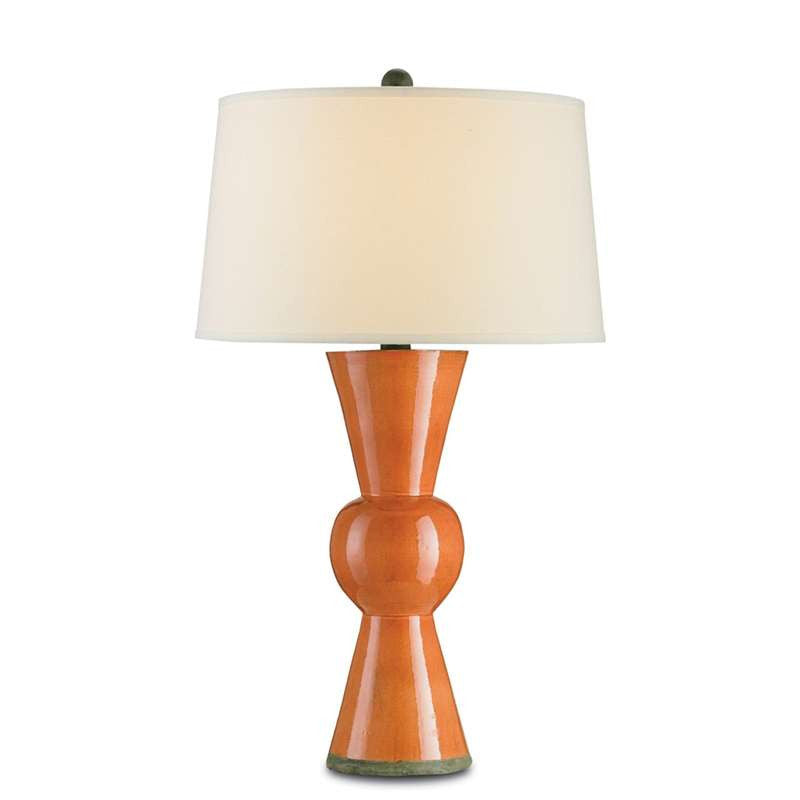 Currey and Co - Upbeat Table Lamp, Orange
