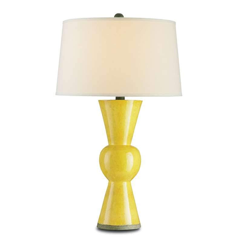 Currey and Co - Upbeat Table Lamp, Yellow