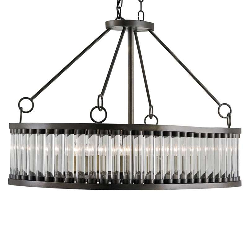 Currey and Co - Elixir Rectangular Chandelier
