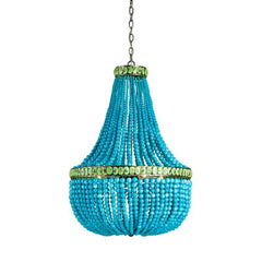 Currey and Co - Hedy Turquoise Chandelier