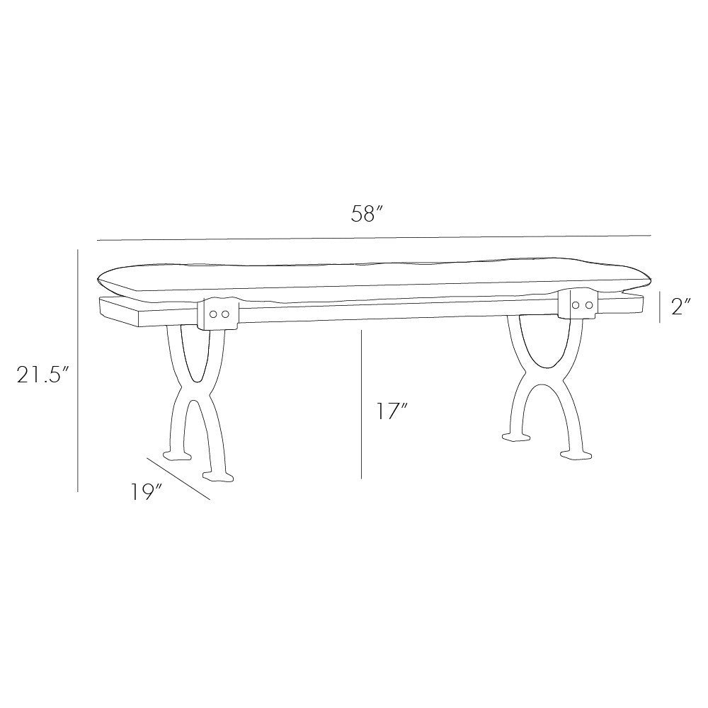 Arteriors - Atlas Bench/Cocktail Table