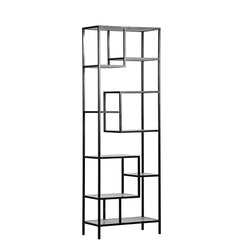 Noir - Haru Bookcase Large, Metal and Quartz