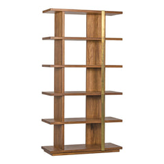 Noir - Eastman Bookcase, Dark Walnut and Antique Brass