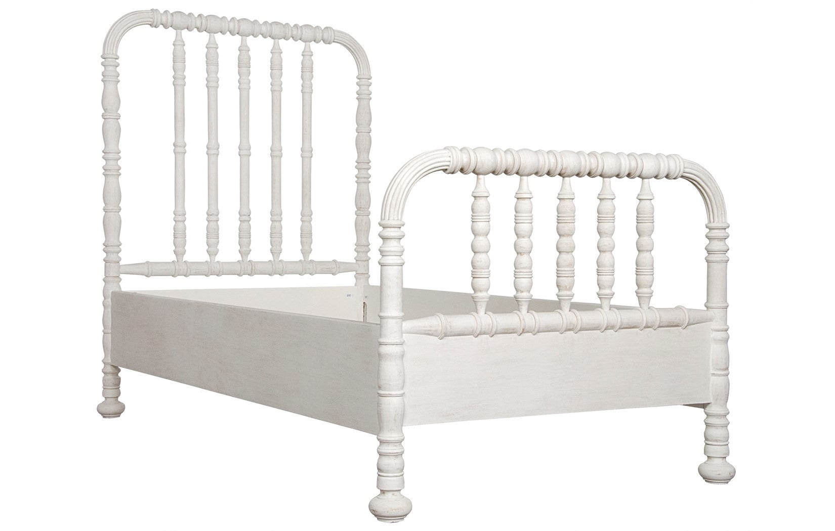 Noir - Bachelor Bed, Eastern King, White Wash