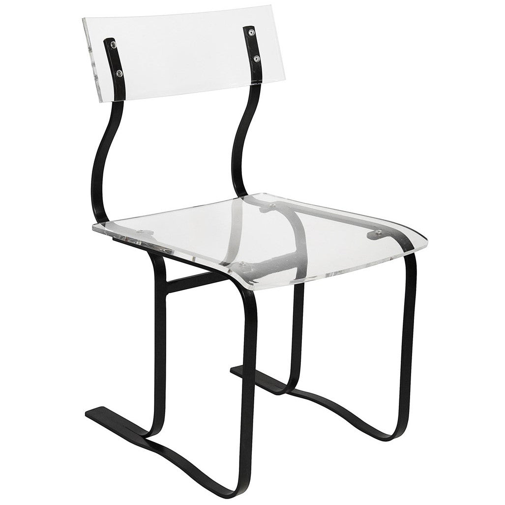 Noir - Riva Chair, Acrylic and Metal