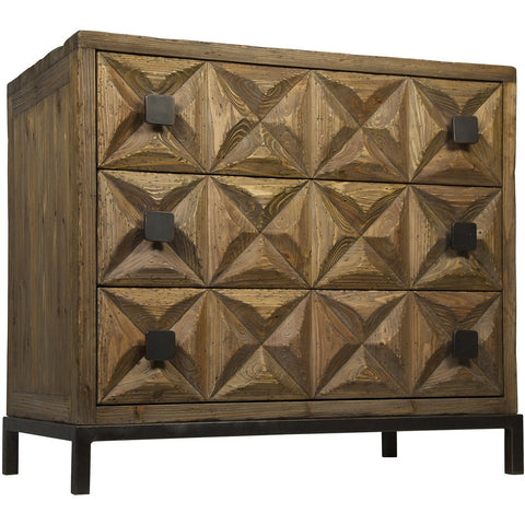 Noir - Jones 3 Drawer Sideboard, Old Wood