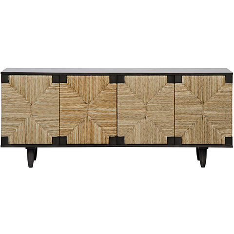 Noir - Brook 4 Door Sideboard, Pale