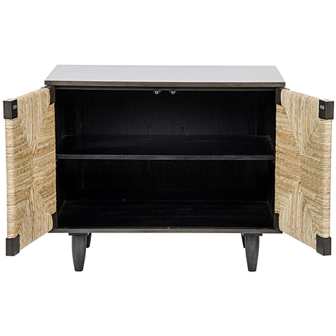 Noir - Brook 2 Door Sideboard, Pale