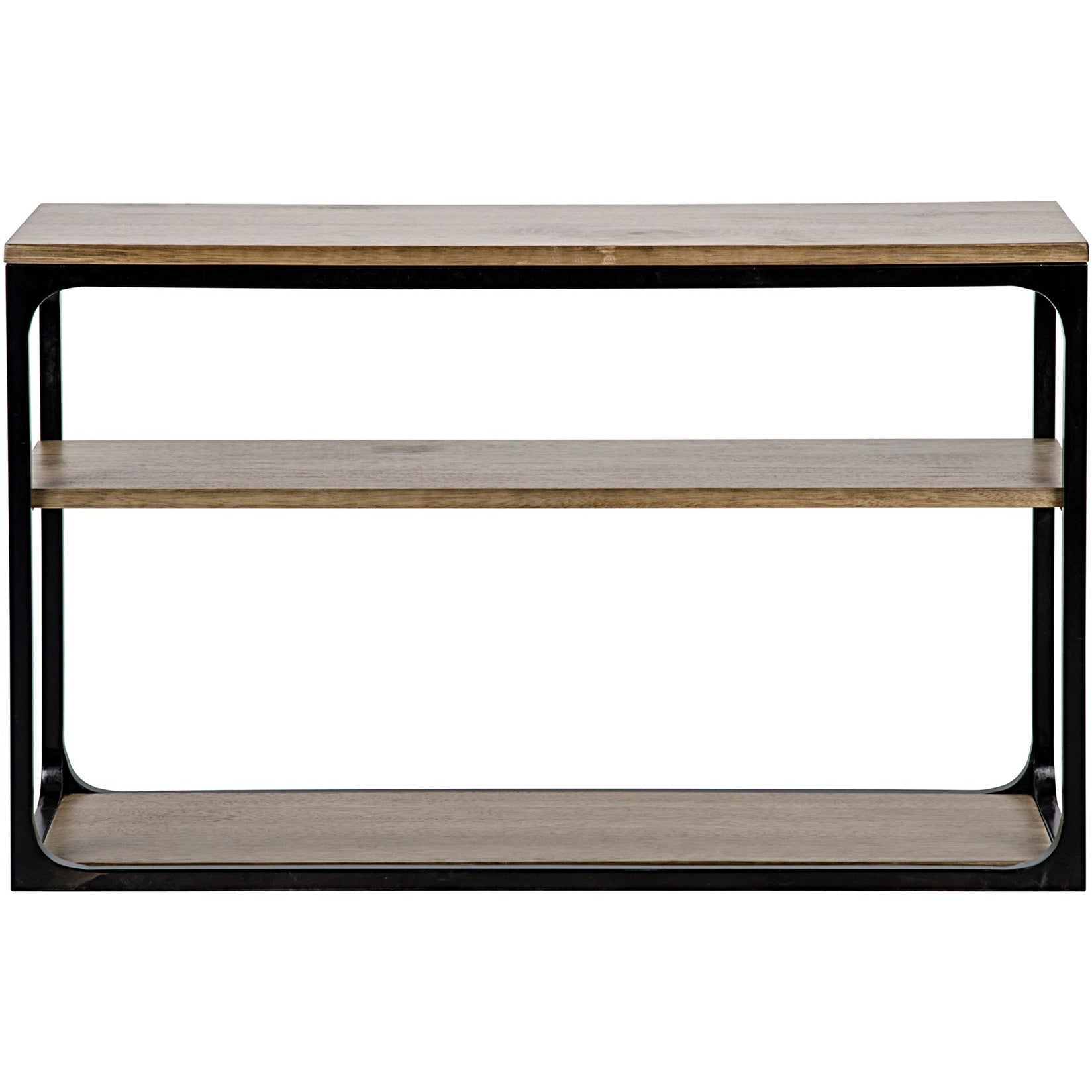 Noir - Small Novie Console W/Metal, Dark Walnut