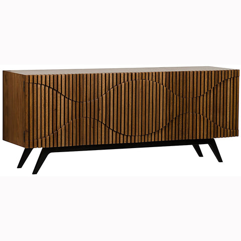 Noir - Illusion Sideboard w/ Metal Base