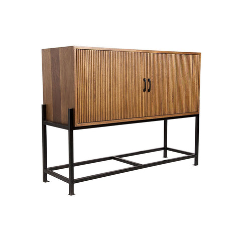 Noir - Galager Sideboard, Walnut and Metal