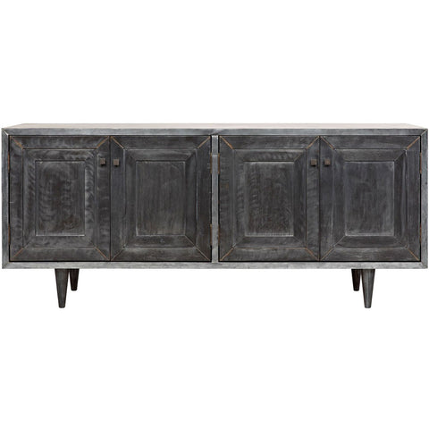 Noir - Yves Sideboard, Plain Zinc and Wood