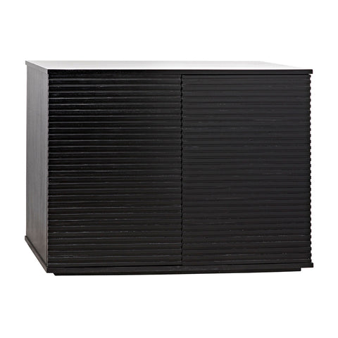 Noir - Smith 2 Door Sideboard, Hand Rubbed Black