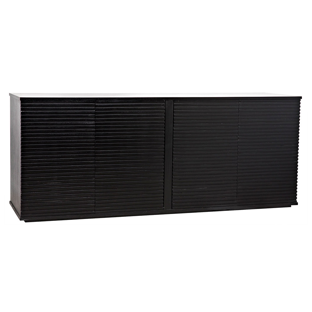 Noir - Smith 4 Door Sideboard, Hand Rubbed Black