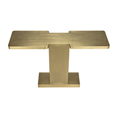 Noir - I Console, Antique Brass Finish