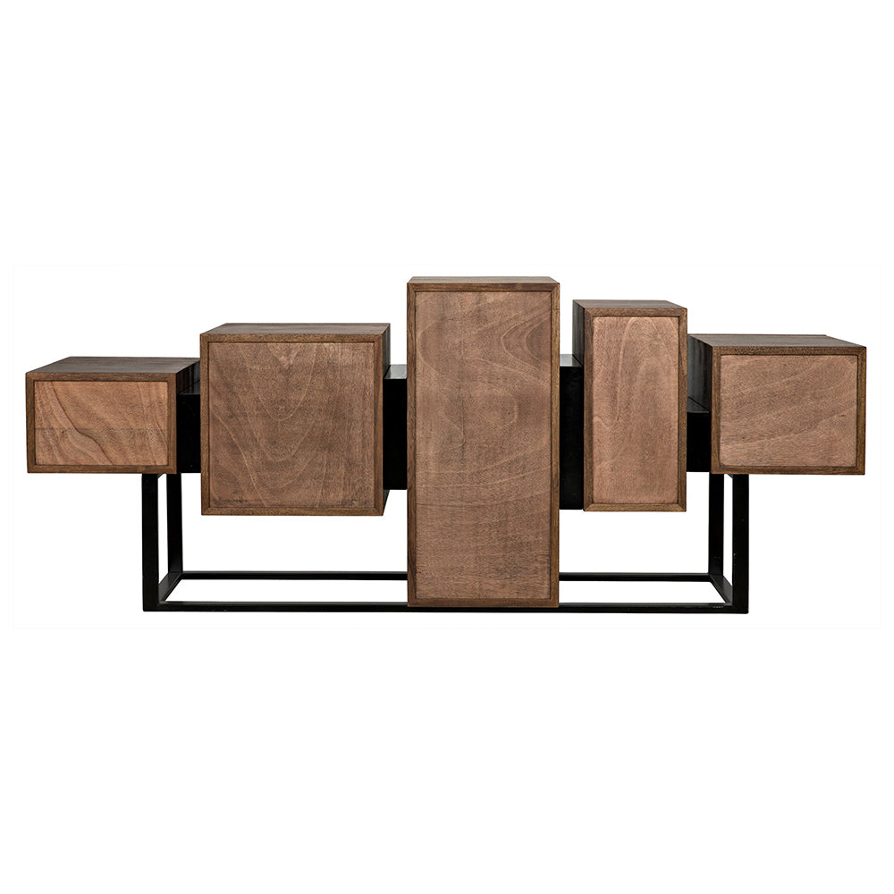 Noir - Ajax Sideboard, Metal and Walnut