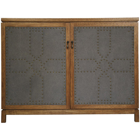 Noir - London Sideboard, Dark Walnut/Fabric