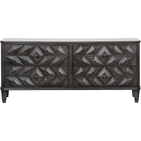 Noir - Giza 6 Drawer Dresser, Pale