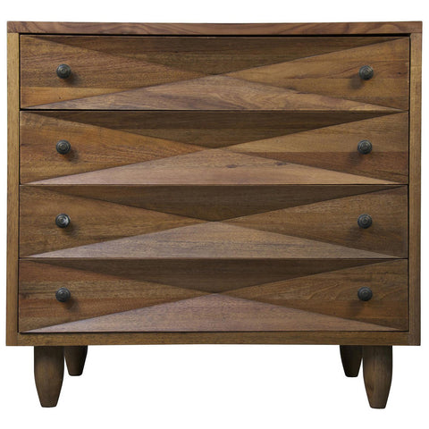 Noir - Diamond Chest, Dark Walnut
