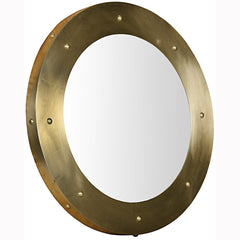 Noir - Clay Mirror, Large, Antique Brass Finish