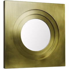 Noir - Shane Mirror, Antique Brass Finish