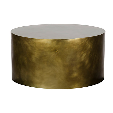 Noir - Lorene Coffee Table, Metal W/ Antique Brass Finish