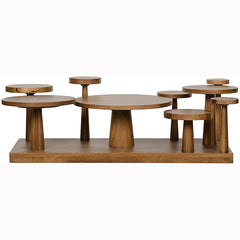 Noir - Anvil Coffee Table, Dark Walnut
