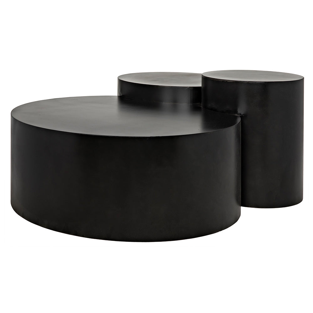Noir - Ella Coffee Table, Metal Finish