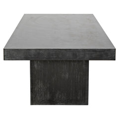 Noir - Prisms Coffee Table, Plain Zinc