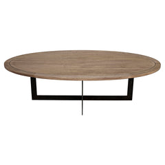 Noir - Gauge Coffee Table, Metal, Washed Walnut