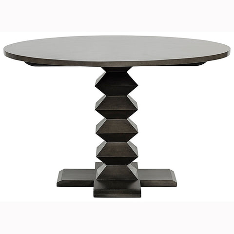 "Noir - 48"" Zig Zag Dining Table,"
